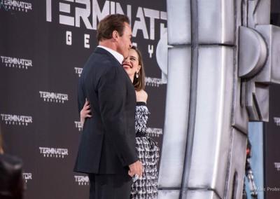 Arnold Schwarzenegger und Emilia Clarke
