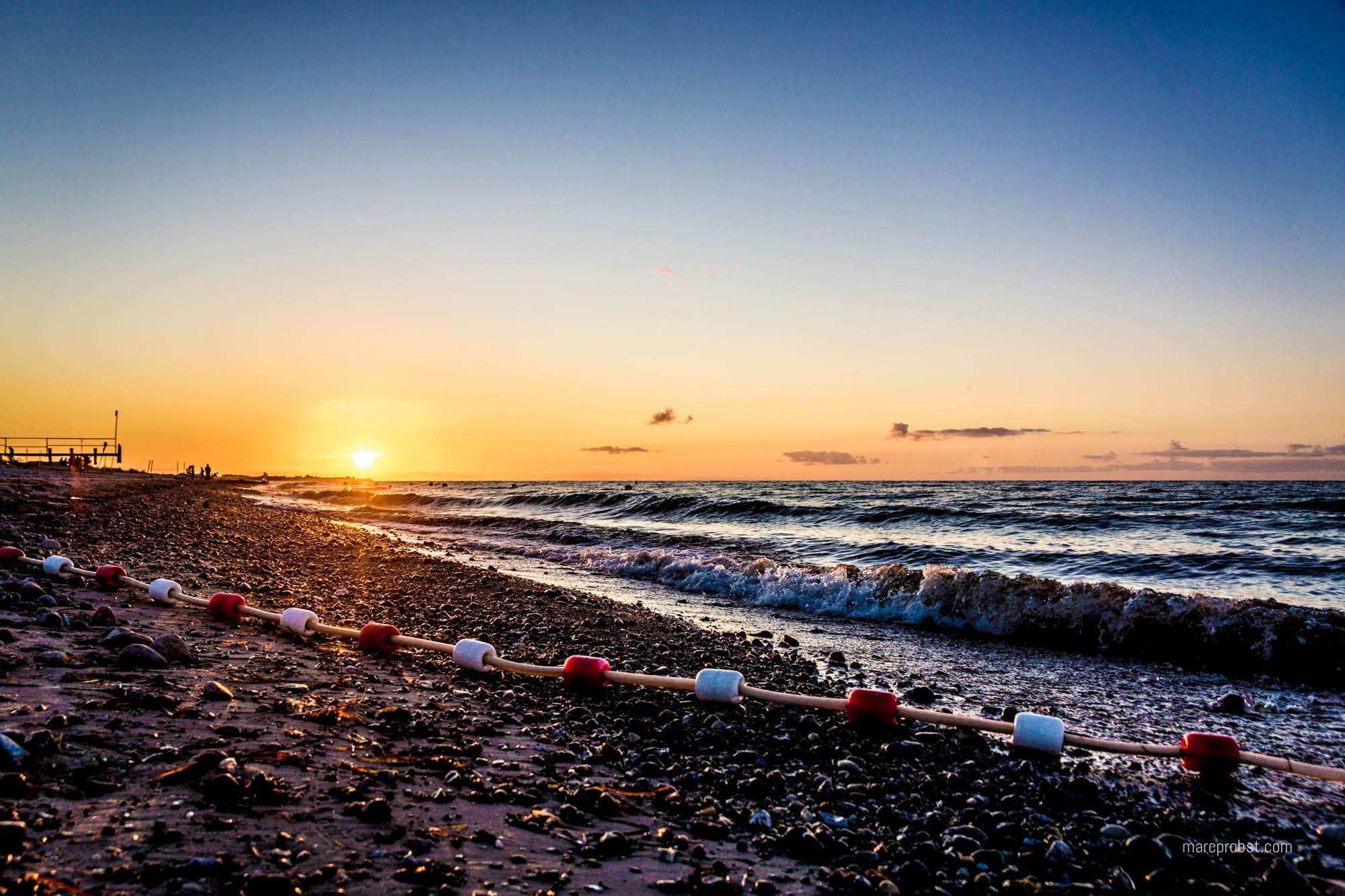 Sonnenuntergang am Strand in Hohenfelde