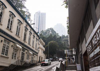 Straße in Hong Kong