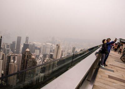 Victoria Peak in Hong Kong mit Blick über die Stadt