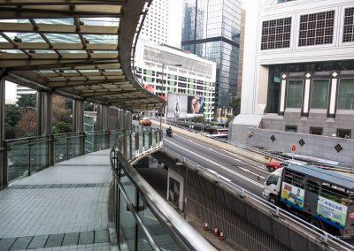 Fußgängerbrücke in Hong Kong