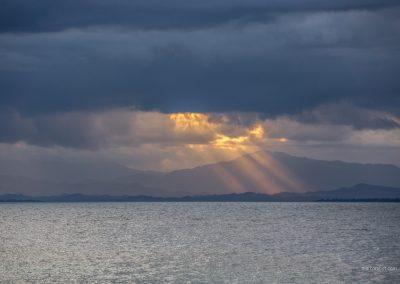 Sonnenuntergang auf Palawan auf den Philippinen