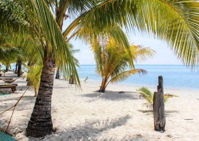 Weißer Strand auf Palawan auf den Philippinen
