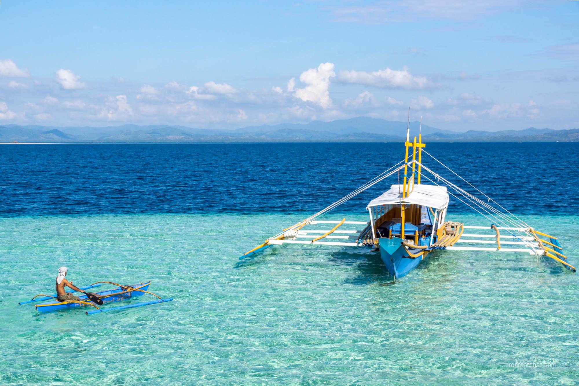 Boot bei Palawan auf den Philippinen