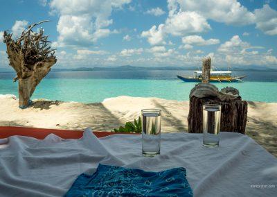 Restaurant auf Palawan auf den Philippinen