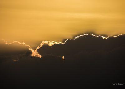 Sonnenuntergang in den Wolken auf Palawan