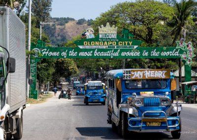 Einfahrtsschild in Olongapo auf den Philippinen