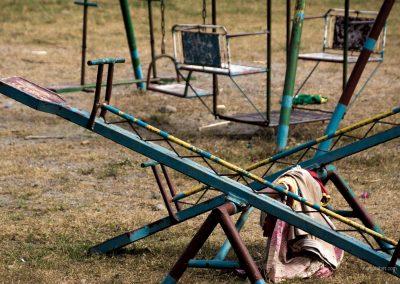 Wippe in einem Kinderheim von Preda auf den Philippinen