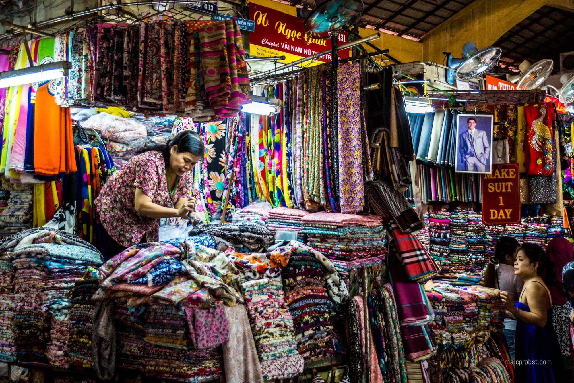 Markt in Ho-Chi-Minh-City im Vietnam