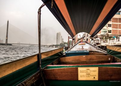 Longtailboat in Bangkok in Thailand