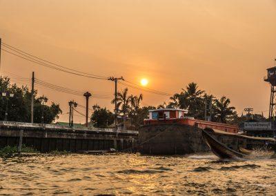 Sonnenuntergang in Bangkok in Thailand