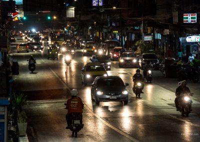 Straße in Bangkok in Thailand