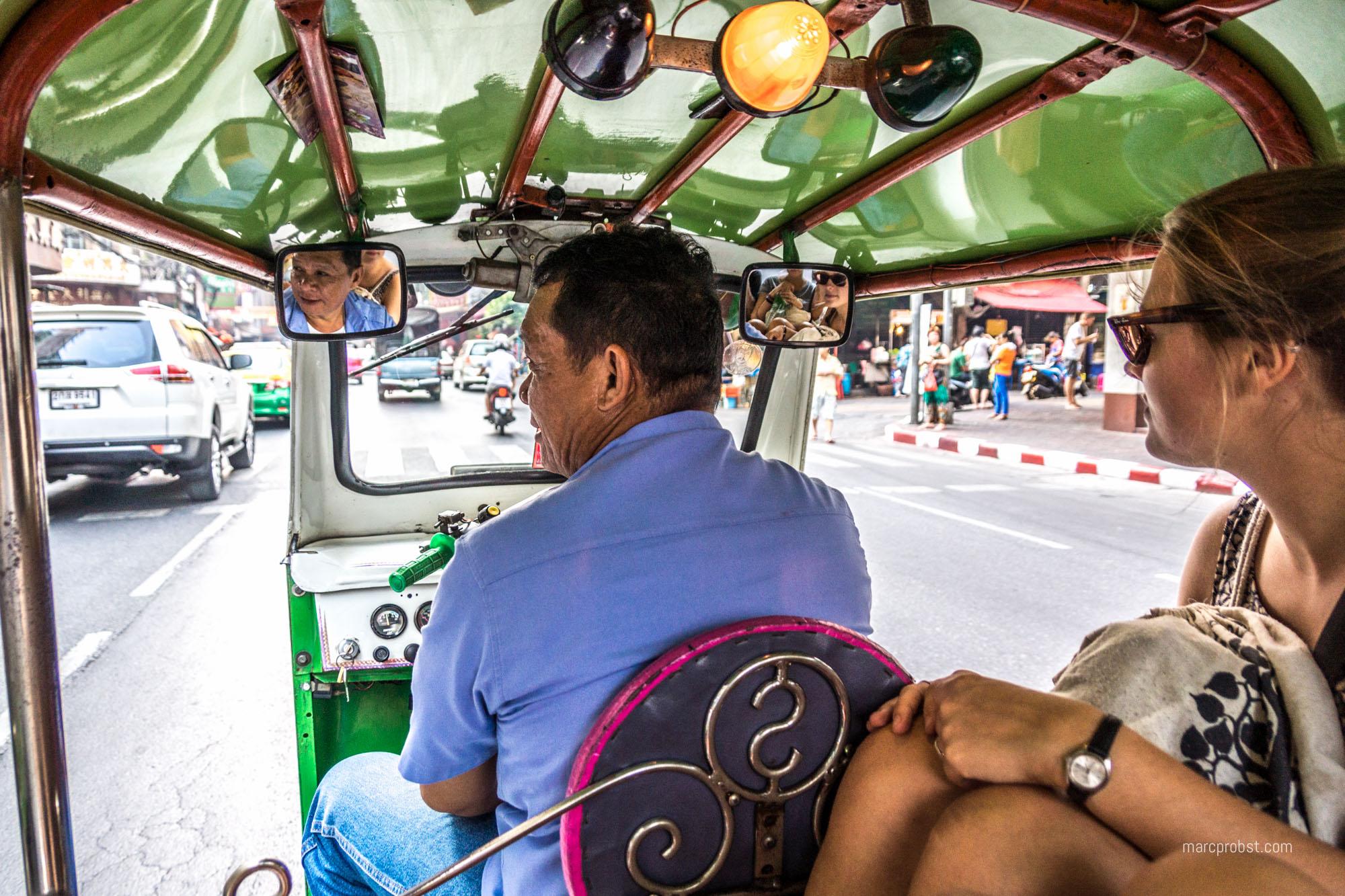 Ein Tuk Tuk in Bangkok in Thailand