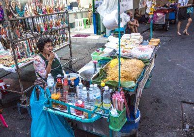 Straßenstand in  Bangkok in Thailand